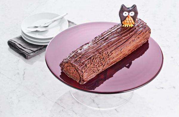 Шоколадное полено с заварным кремом фото 3