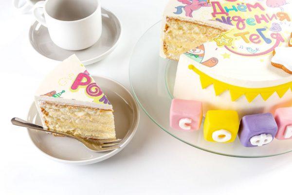 Торт детский Шарлотт С Днем Рождения фото 8