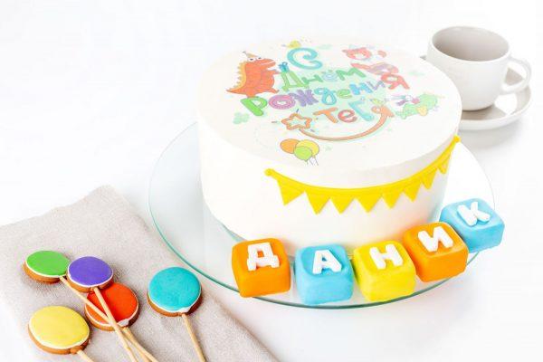 Торт детский Шарлотт С Днем Рождения фото 2