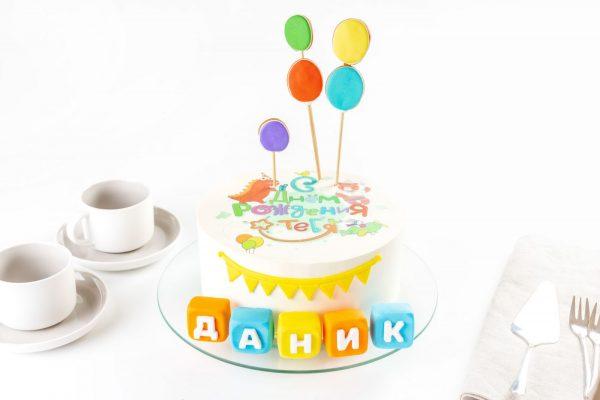 Торт детский Шарлотт С Днем Рождения