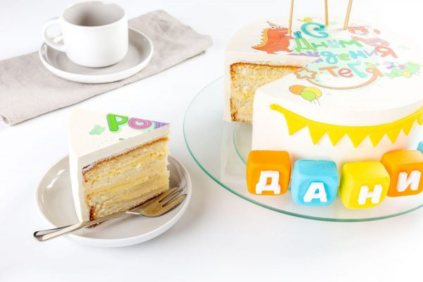 Торт детский Шарлотт С Днем Рождения фото 4