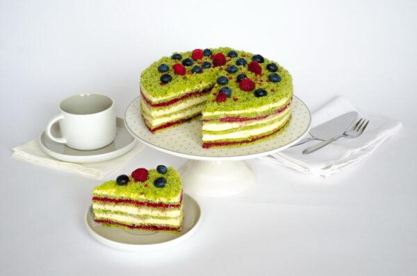 Десерт Шпинатный с малиной и семенами чиа фото 3